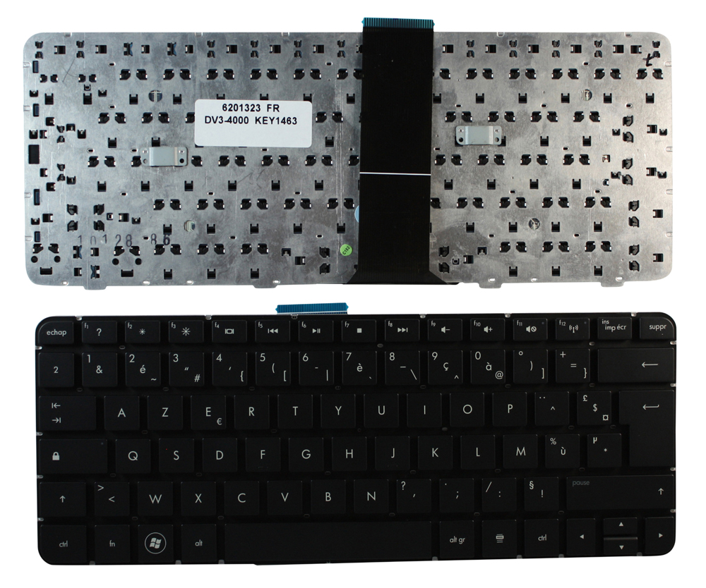 hp pavilion dv34123tx black french layout replacement