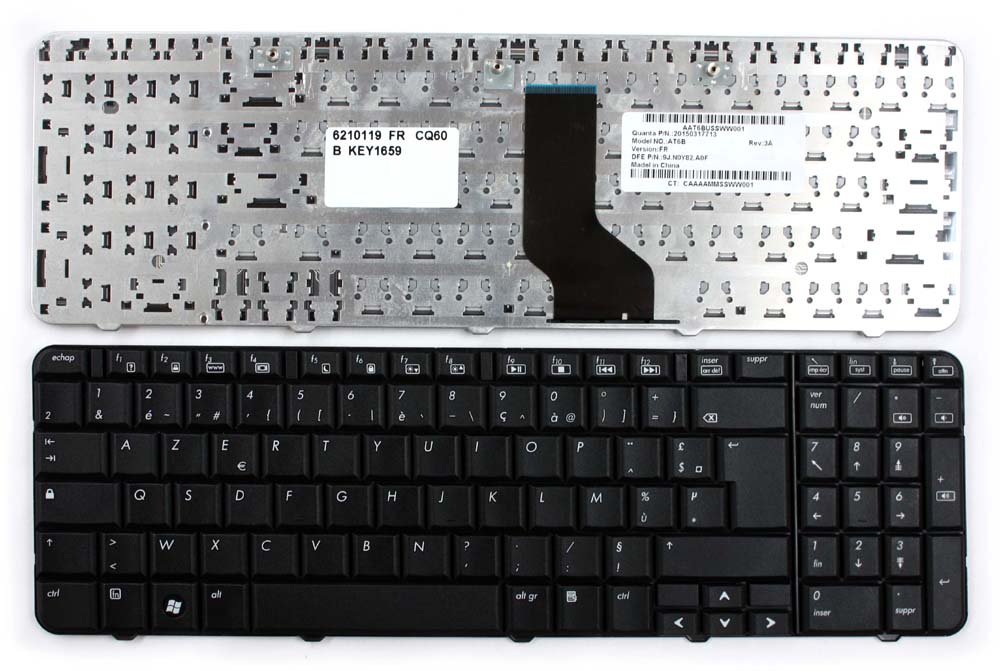 Compaq-Presario-CQ60-120EO-Black-French-Layout-Replacement-Laptop-Keyboard