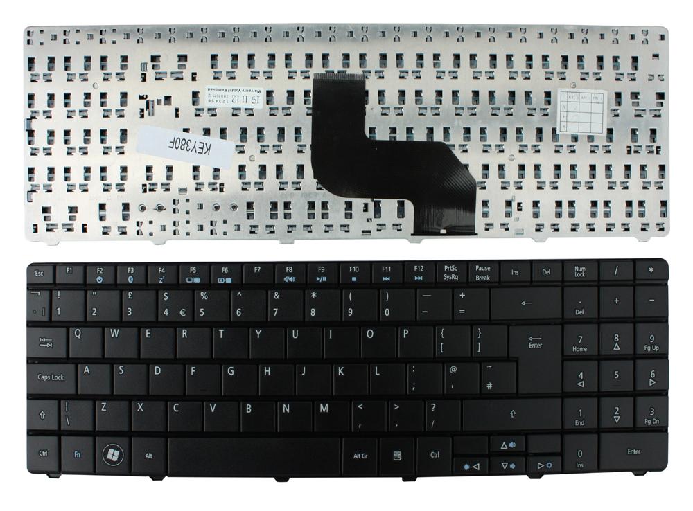 Layout-Reino-Unido-Negro-Teclado-para-E-Machines-E627